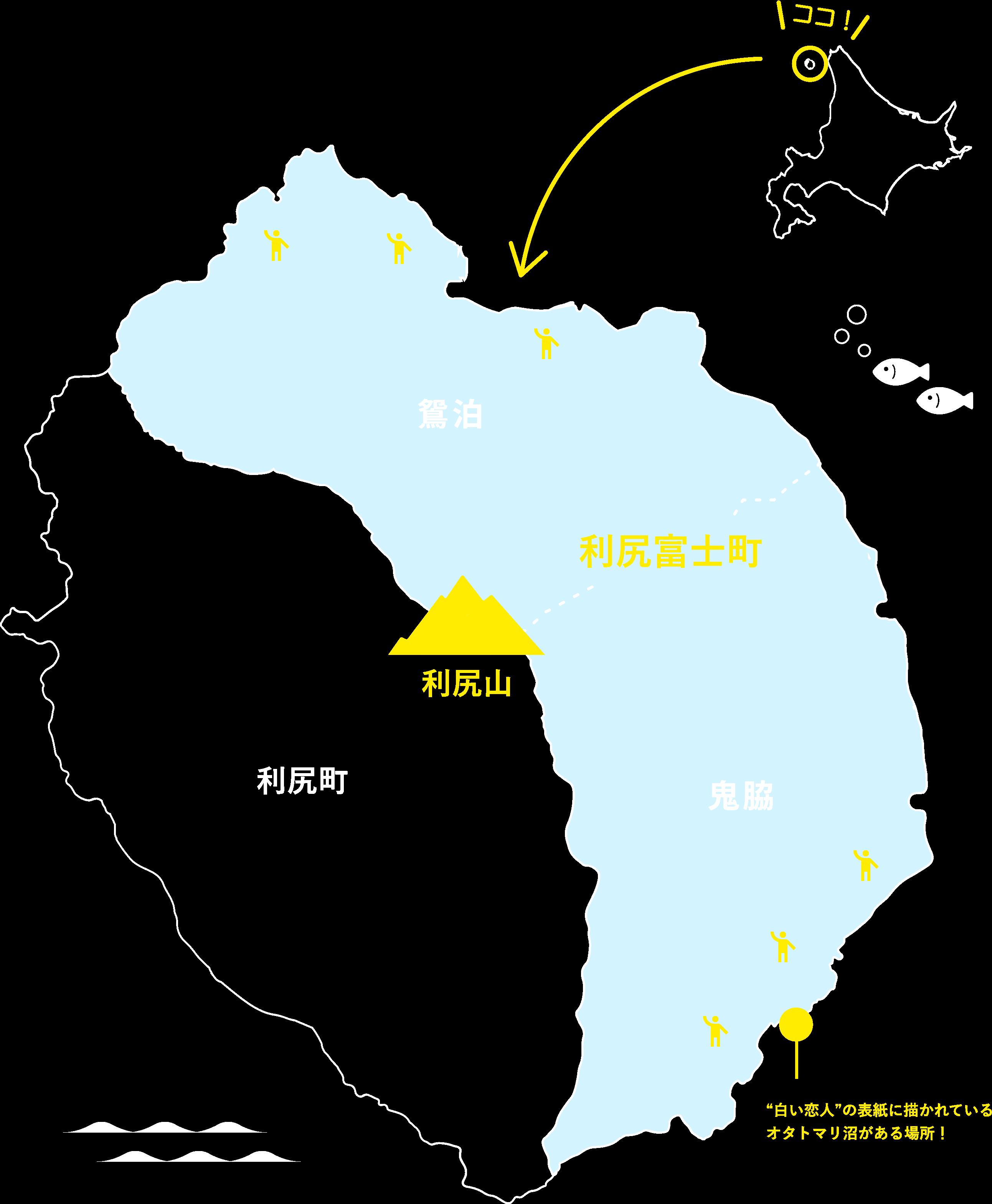 利尻富士町の地図